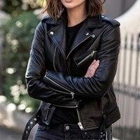 pu jacket 2021 new women zipper lapel long sleeve solid color autumn winter warm fashion temperament casual western style