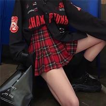 School Girls Uniform Skirt Fashion Plaid Short Skirt Pleated Cotton Skirt Women Casual Japanese Preppy Mini Skirt