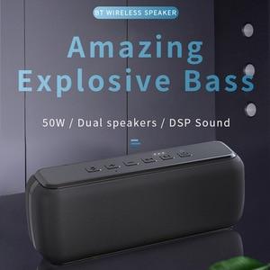 60W Wireless Bluetooth Speaker Subwoofer Outdoor Sport TWS Wireless Audio Smart Speaker Voice Assistant IPX5 Waterproof Speaker