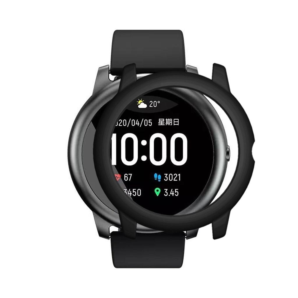 Чехол для часов из поликарбоната с гальваническим покрытием, защитная рамка для экрана для Xiaomi Haylou-solar LS05, чехол для часов из ТПУ, защитный ба...