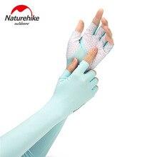 Naturerandonnée en plein air respirant demi-doigt UV Protection manches conduite Camping randonnée bras manches NH20FS023