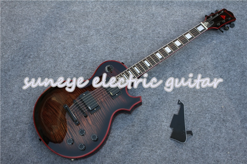Suneye-Guitarra eléctrica personalizada de color gris, Kit de fijación del borde de...