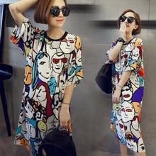 Nuevo pijama de una pieza para mujer, estampado, cuello redondo, manga corta, vestido suelto para dormir para verano BN99