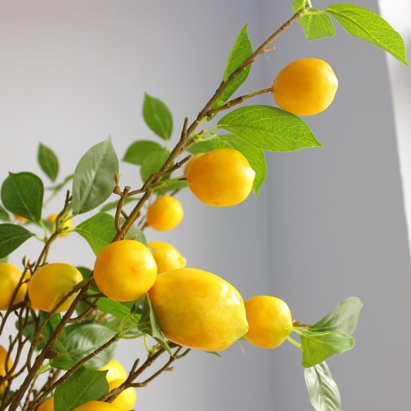Fake flower lemon Simulation Branch Living room decoration dining table decoration Artificial plants