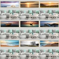 modern natural landscape canvas painting poster sky sea sunrise painting printed on wall art pictures for living room home decor