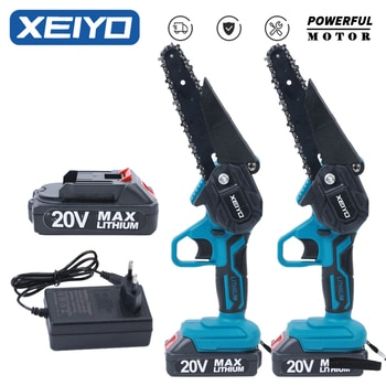 XEIYO 6 Inch Electric Chainsaw for Makita 18V Battery Rechargeable Mini Woodworking Wood Cutter Garden Hand Tools Man Chain Saw