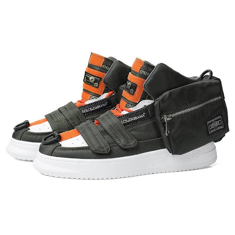 2021 تصميم جديد الخريف موضة البريدي جيب أحذية الرجال البرتقال الفاخرة مكتنزة أحذية رياضية الرجال الهيب هوب عالية أعلى حذاء رجالي أحذية رياضية ...