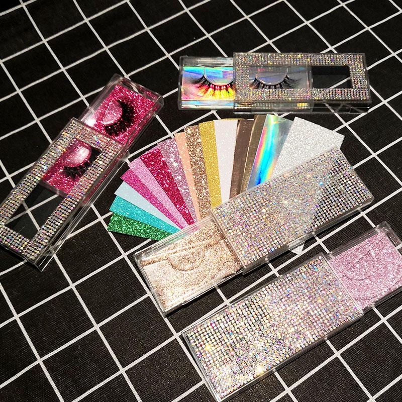Iflovedekd NEW  10/30/40 pcs 3d Mink Eyelashes Diamond lash boxes  packaging custom logo empty boxes vendors
