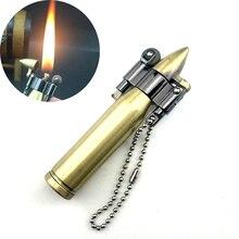 Eternal Match Retro Mini Bullet Lighter Fire Metal Gasoline Cigar-lighter Keychain Pendant Flame Ker