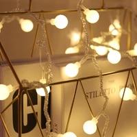 led light string round ball colorful lights string for girls bedroom home decorative lights room decor night lights fairy lights