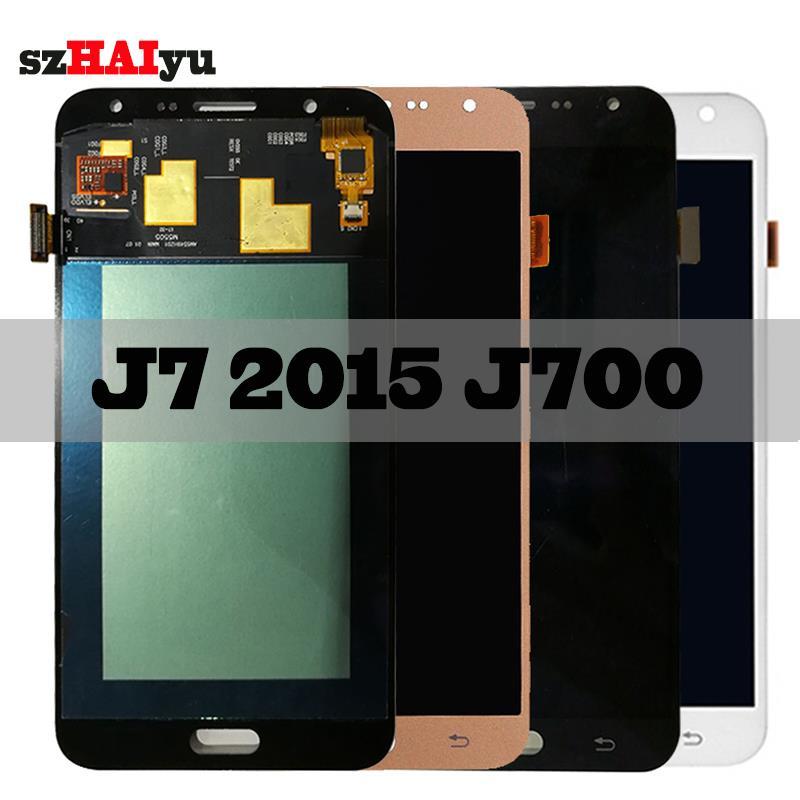Super AMOLED LCD For Samsung Galaxy J7 2015 J700 J700H J700FN J700F J700M LCD Display Touch Screen Digitizer 1920x1080 5.5