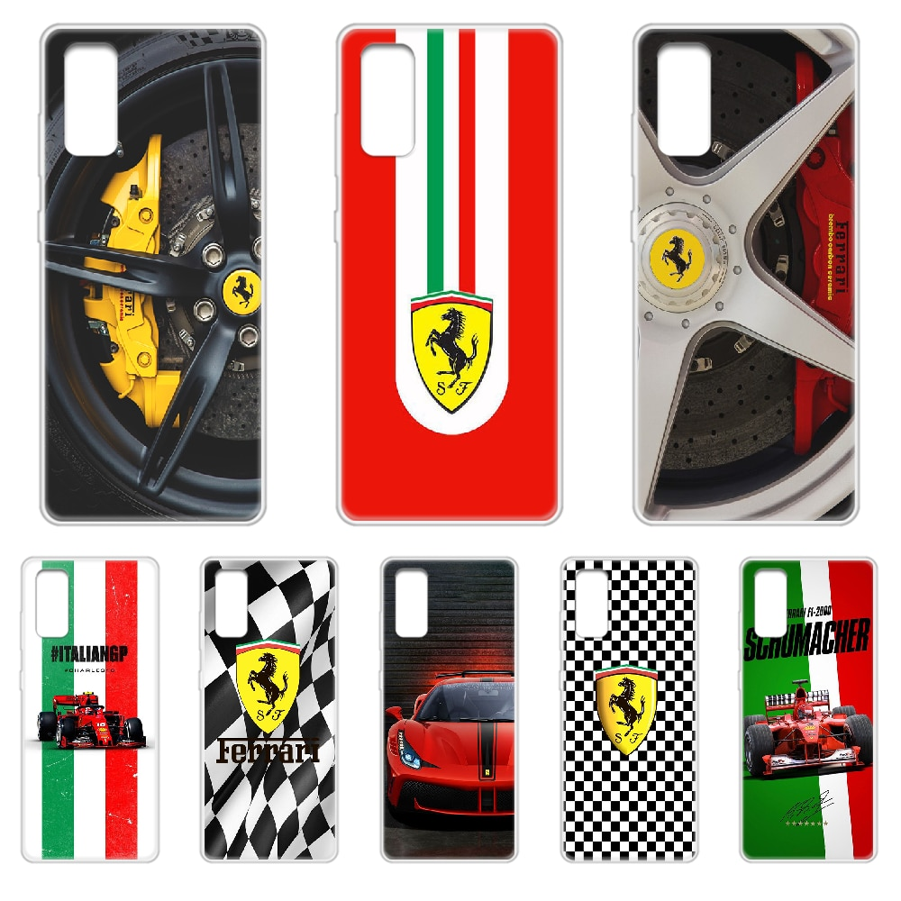 Ferrari f1 carro de corrida caso telefone capa casco para samsung galaxy s 7 8 9 10 11 20 a 20e 50 51 70 71 plus borda ultra transparente