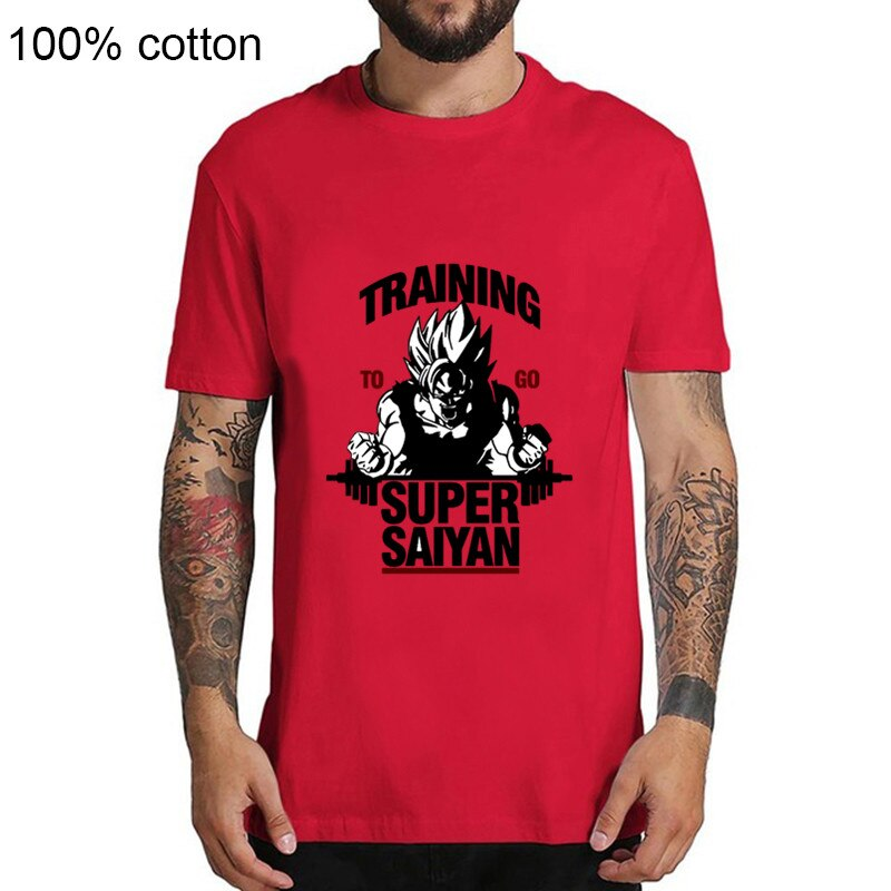 Anime Héros Dragon Ball Z hommes t-shirt Formation Daller Super Saiyan Imprimé Fils Goku Vegeta Gym T-Shirts hauts Tee Hipster Chemises