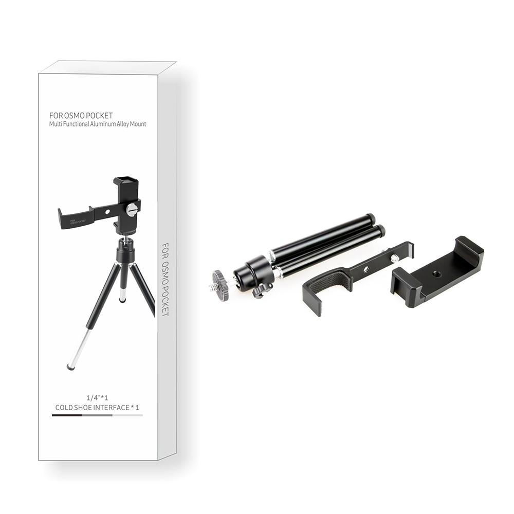 Aluminum Alloy Tripod Multi Functional Mount Bracket Phone Holder for DJI Pocket 2 Handheld Gimbal Mount Holder Accessory Sets