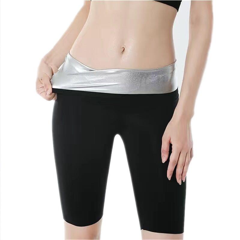 Women Sauna Sweat Pants Thermo Fat Control Legging Body Shapers Fitness Stretch Control Panties Wais