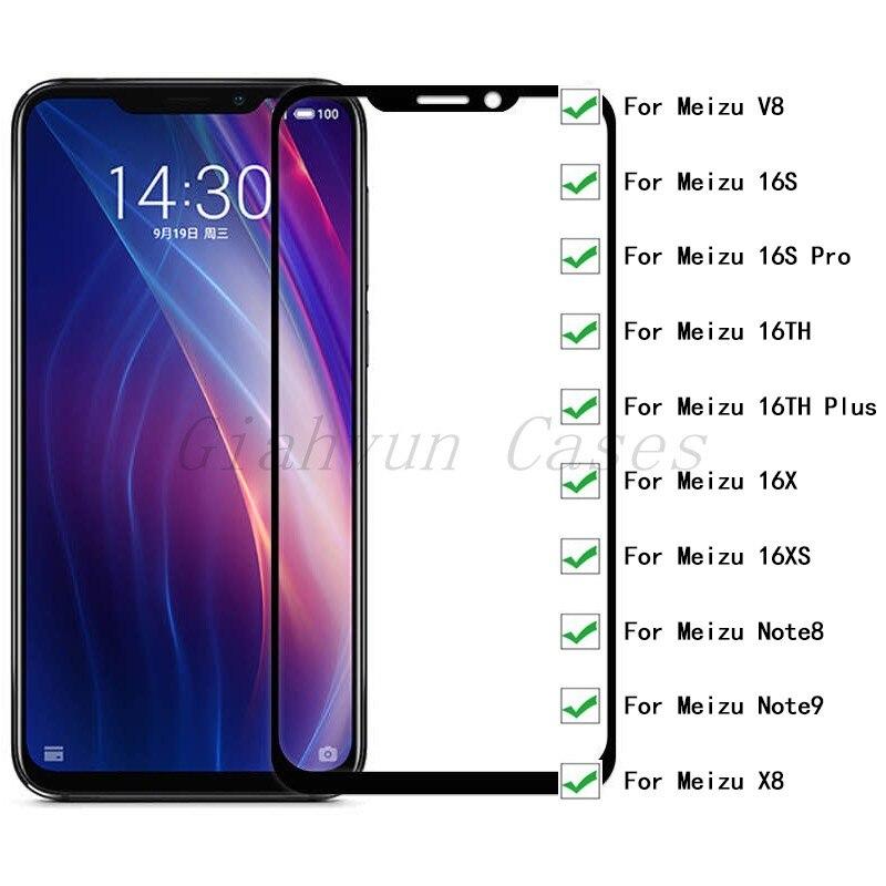 2 piezas 9H vidrio templado HD vidrio Protector para Meizu V8 16S Pro 16TH 16X Note8 Note9 X8 Plus Pro Protector de pantalla