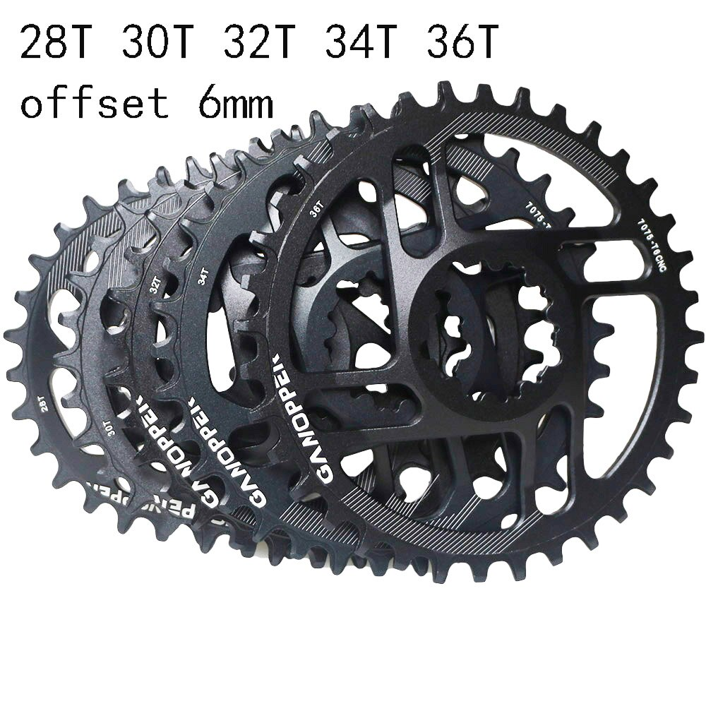 MTB Single Speed Crown Chainring Mountain Bike 1x System 28T 30T 32 34 36 Gear Narrow Wide Teeth Fit For Sram NX XX XO GX GXP11