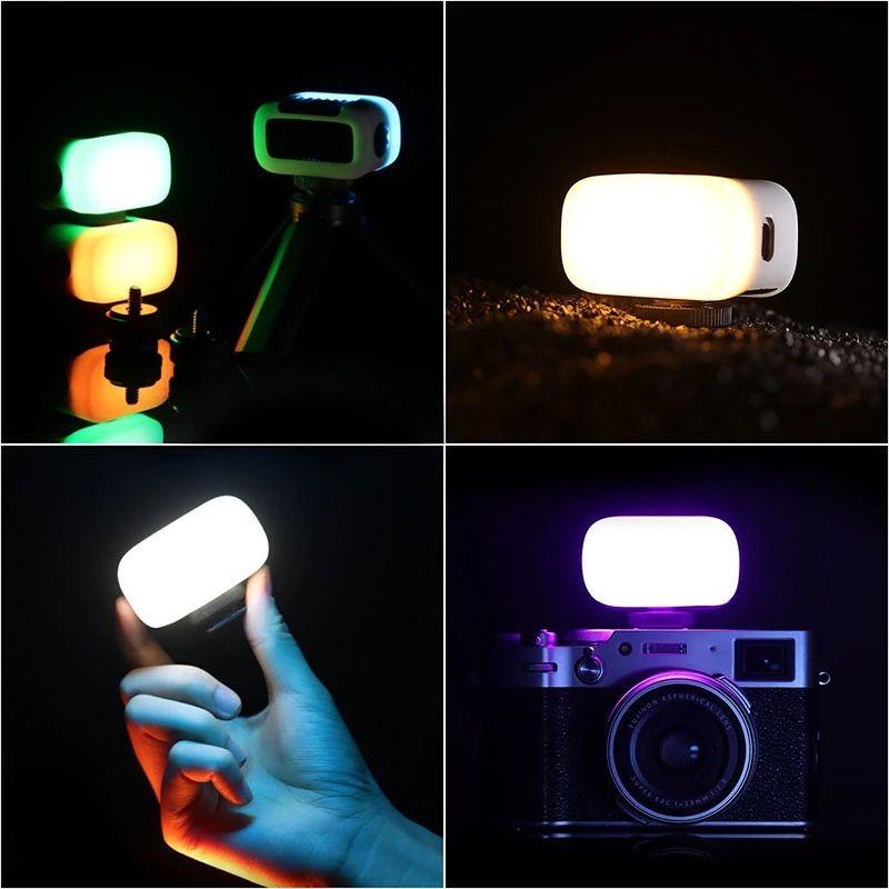 Mini RGB Led Video Light 8 Colors Portable Fill Light with Softbox Diffuser 2W 750mAh Battery Type C Vlog Light enlarge