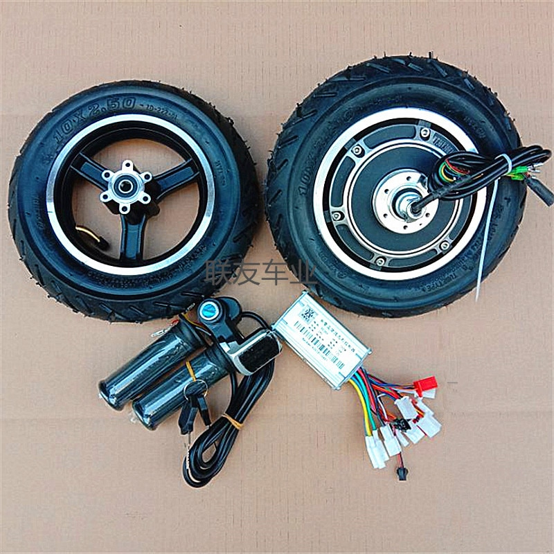 48V Motor 10 Inch Electric Scooter Motor Tire Hub Folding Scooter 36V LCD Handle Controller scooter vacuum tire motor front hub 10 inch electric scooter 36v48v brushless motor 500w