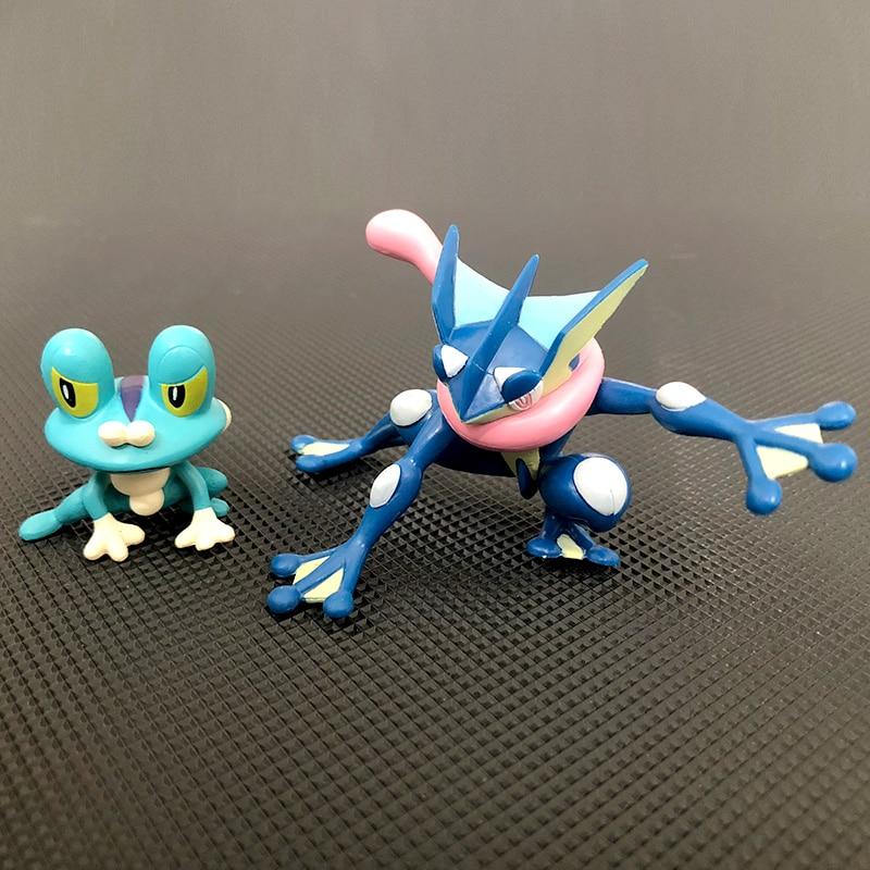 Original Greninja Froakie anime de dibujos animados de acción y de figuras en miniatura de coleccionismo juguetes para los niños
