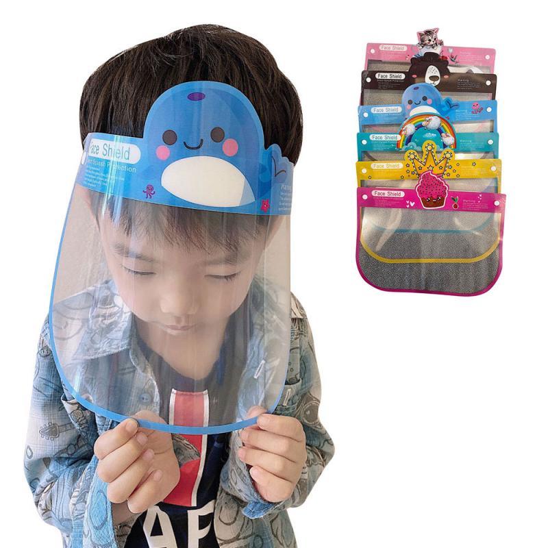 Face Shield Children's Empty Top Hat Outdoor Travel Anti-fog Full Face Transparent Face Screen Sponge Decompression