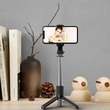 Selfie Mobile Phone Holder Mini Tripod Bracket Monopod Collapsible With Wireless bluetooth shutter F