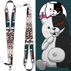 Anime Danganronpa Cosplay Accessories Cute Phone Straps Splittable Keychain U Disk Buckle  Lanyards Students Holder Straps