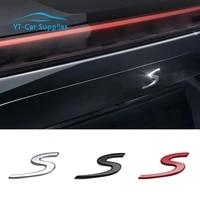 car rear lid trunk boot s emblem badge for porsche macan cayenne panamera 718 911 car exterior decoration accessories