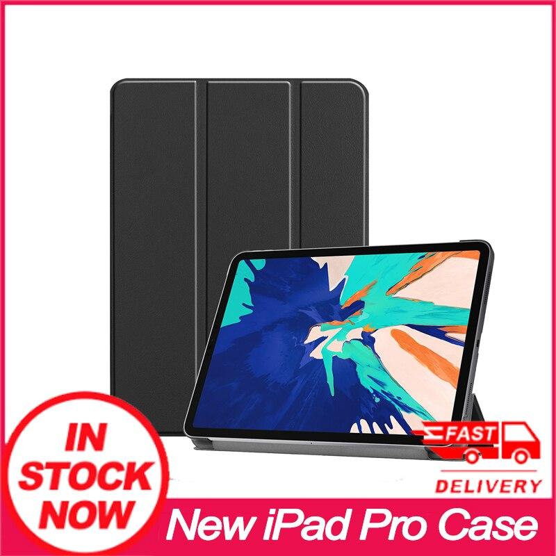 """Tout nouveau iPad Pro 12.9 """"4th génération 2020 Folio support en cuir étui intelligent support magnétique nouveau cuir PU"""