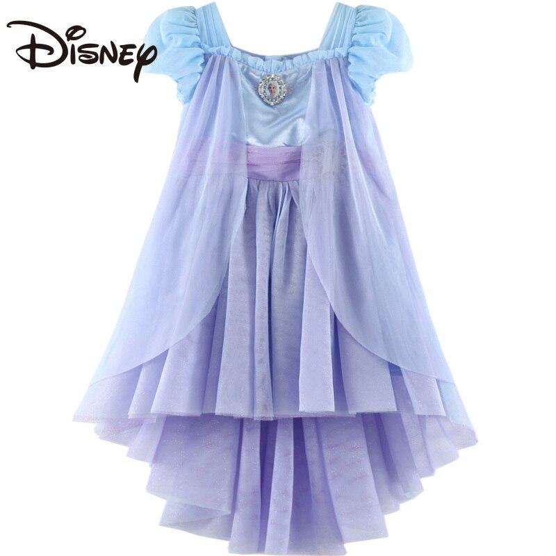 Disney Children's Clothing Girls' Summer Dress Princess Dress Middle and Big Children's Performance Dress Frozen Mesh Dress