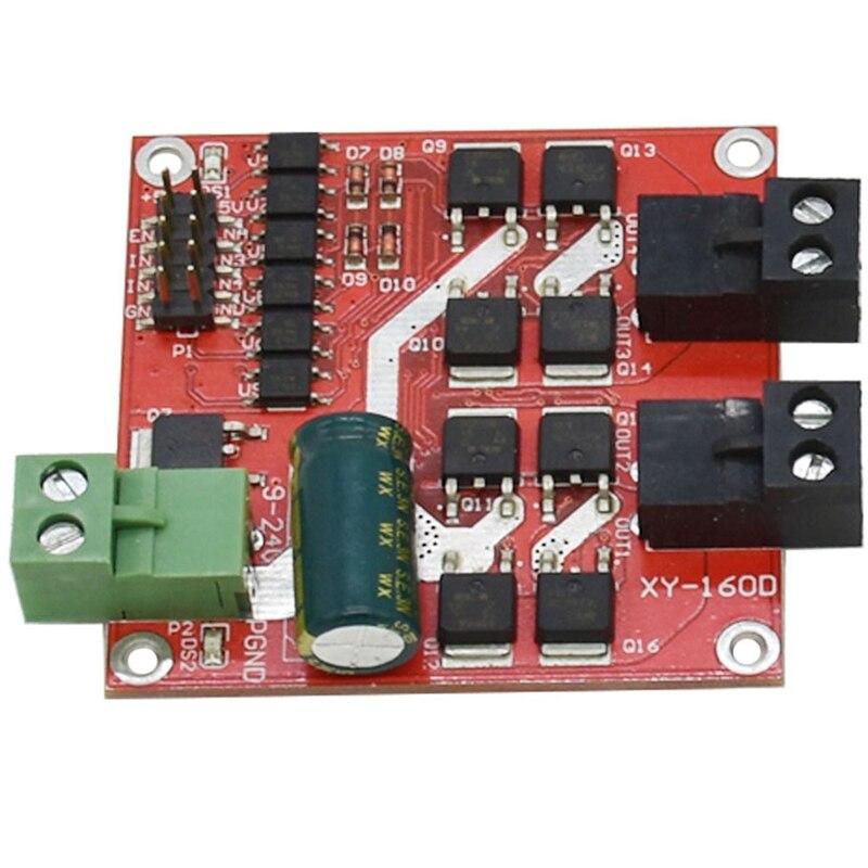 7A 160W Dc doble de Módulo de accionamiento del motor Positivo Negativo Pwm velocidad L298 lógica Xy160D