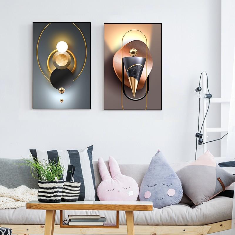 Геометрическая искусство, лошадь, лось, Настенная картина, современное искусство, Минималистичная декоративная картина