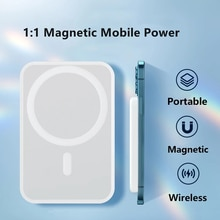 5000mAh 1:1 Portable Magnetic Wireless Power bank Mobile Phone External Battery For iphone 13 12pro
