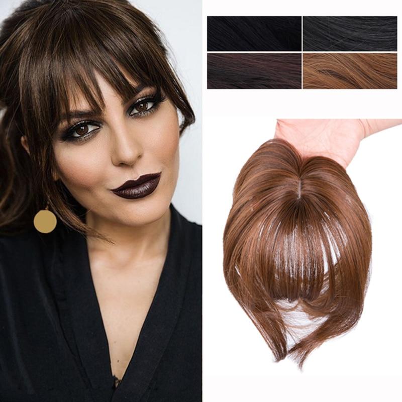 Pelo sintético Gres, pinza con flecos, flequillo, falso pelo liso, peluca de fibra de alta temperatura, flequillo, Clip en la extensión del cabello
