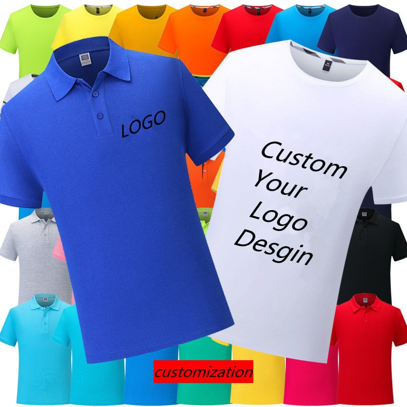 \Multi-stylecustom Breathable Polo Shirt Men's LOGO Custom Casual Short-sleeved T-shirt Short Sleeve Round Neck Own Design custom embroidery personalised polo shirt full color text logo print work uniform workwear company design your own polo