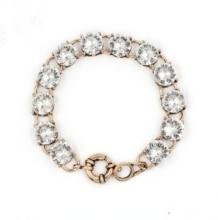 Big circular Crystal Clear Dot Bracelet Bangle Fashion Big Glass Stone Jewelry for Women