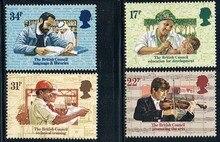 4 pièces/ensemble nouveau royaume-uni GB angleterre poste britannique timbre 1984 royaume-uni 50 ans dassociation culturelle timbres MNH