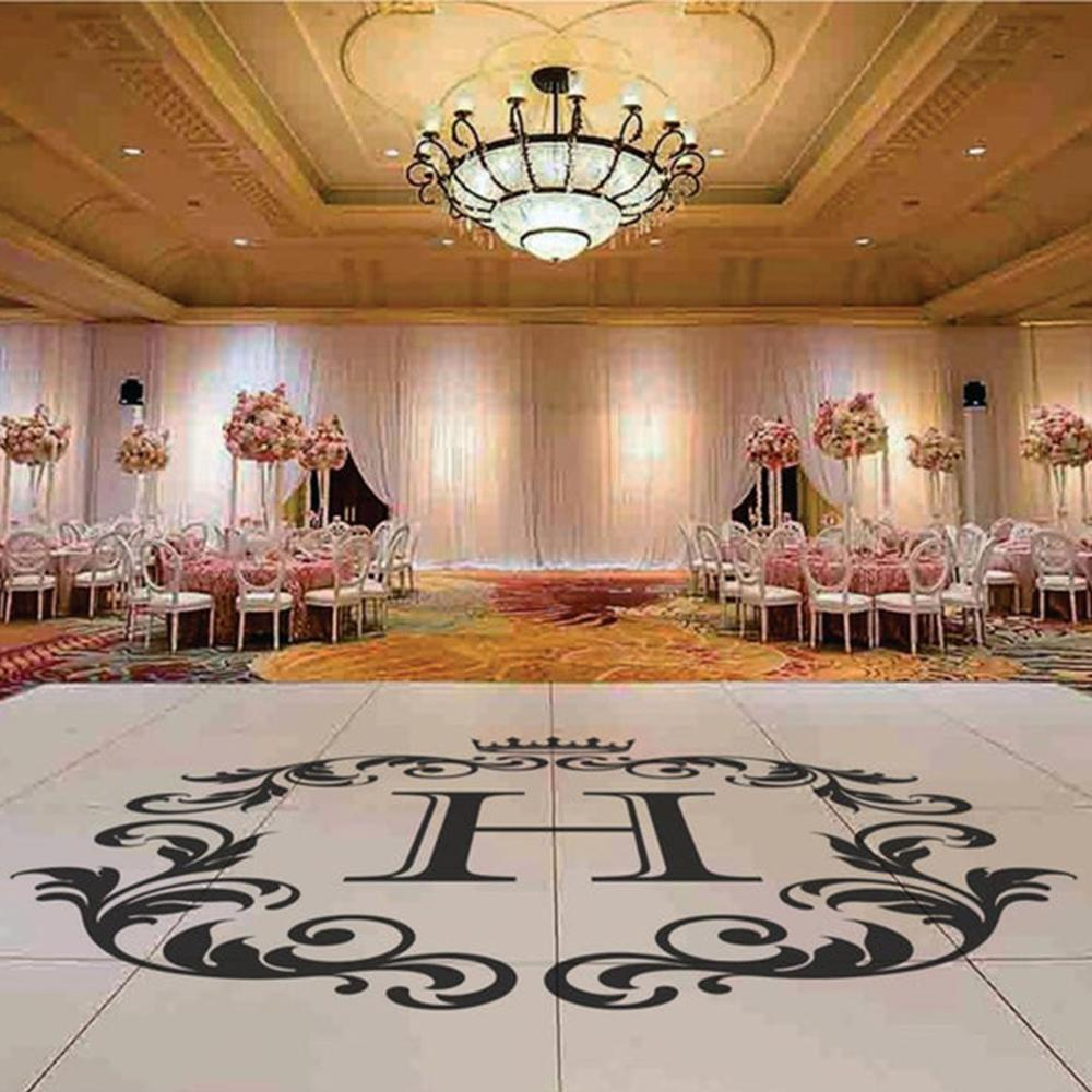 Makeyes, calcomanías de baile de boda, calcomanías personalizadas, diseño de arte inicial, decoración de piso de fiesta, pegatina de decoración de boda, calcomanías de decoración de arte Q276