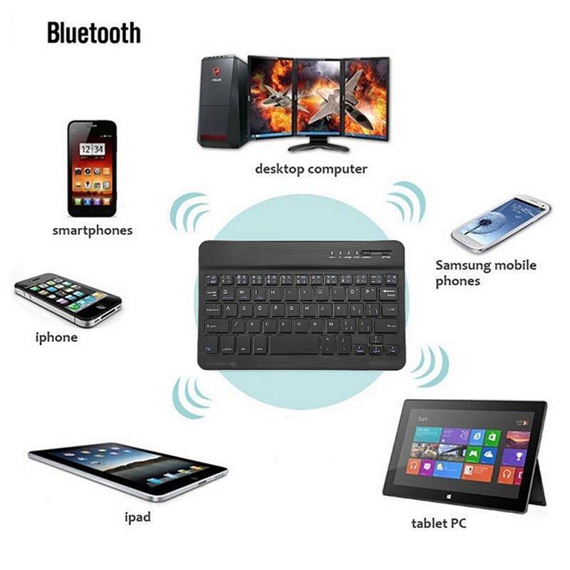 Teclado inalámbrico Bluetooth tableta de teléfono móvil de tres sistemas con carga USB Mini teclado ultrafino con ordenador tailandés