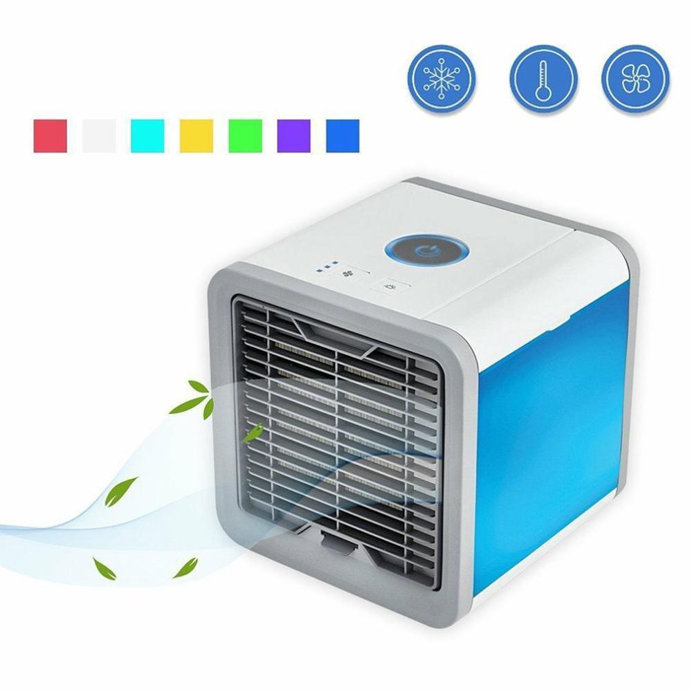 7 aire acondicionado portátil de verano, Mini ventilador de aire acondicionado USB, humidificador de aire acondicionado, ventilador de refrigeración de aire para habitación, hogar, oficina envío gratis