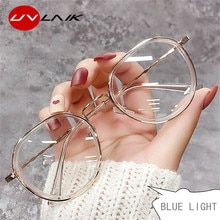 UVLAIK Blue Light Glasses Clear Computer Gaming Fashion Women Eyewear Frame Improve Comfort Transpar