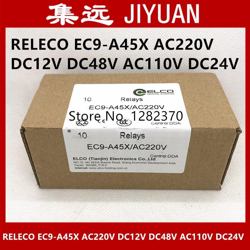[SA] جديد الأصلي أصيلة RELECO التتابع EC9-A45X AC220V DC12V DC48V AC110V DC24V بقعة-10 قطعة/الوحدة