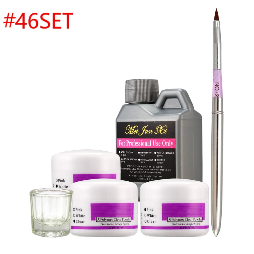 Acrylic Liquid Powder Liquid Block UV Gel Sanding File Pen Glass cup Buffer File Brush Dryer Nail Art Kits SET 46/28/931/55 set