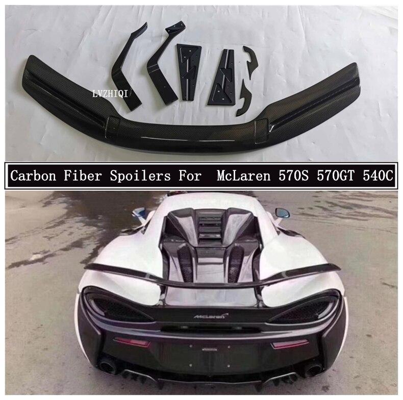 Alerones de fibra de carbono para McLaren 570S 570GT 540C, alerón de ala, accesorios de coche de alta calidad