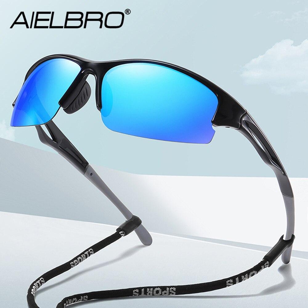 Мужские солнцезащитные очки AIELBRO, солнцезащитные очки для велоспорта, поляризованные солнцезащитные очки для велоспорта, мужские солнцеза...