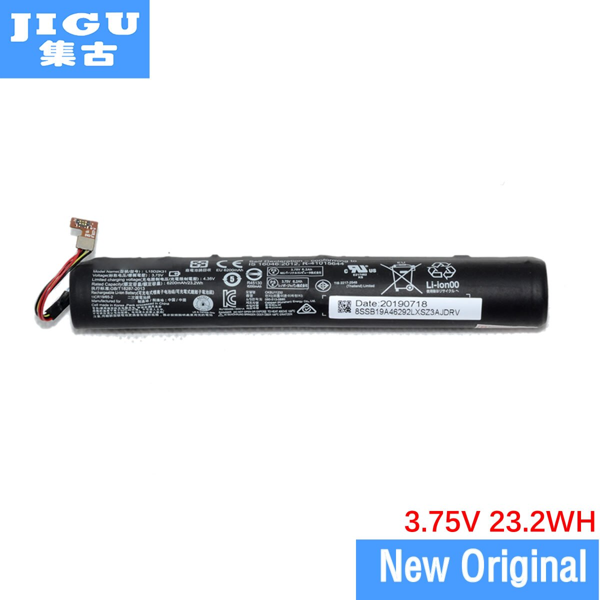 Jigu alta qualidade 6200 mah l15d2k31 l15c2k31 bateria para lenovo yoga 3 Tablet-850M YT3-850 3.75 v 23.2wh