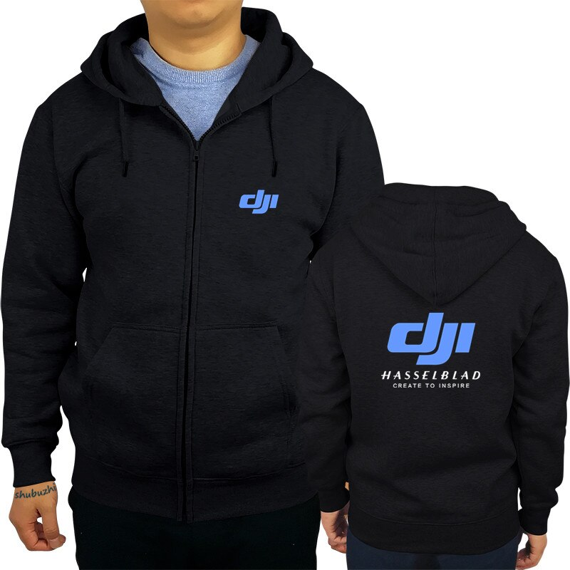 New Arrival Men hoodies New Black hoodie DJI Hasselblad Camera Drones Photography Mens S to 3XL jacket sbz8176