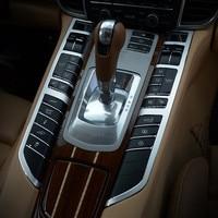 Aluminium Alloy Car Interior Central Control Function Buttons Frame Decoration Sticker Trim For Porsche Panamera 2010-15
