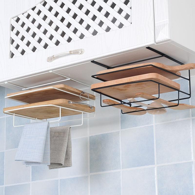 Ractic والإبداعية الحديد المطاوع تخزين جدار صندوق معلق تخزين الرف قطع غطاء لوحي المنظم منشفة مطبخ لوازم