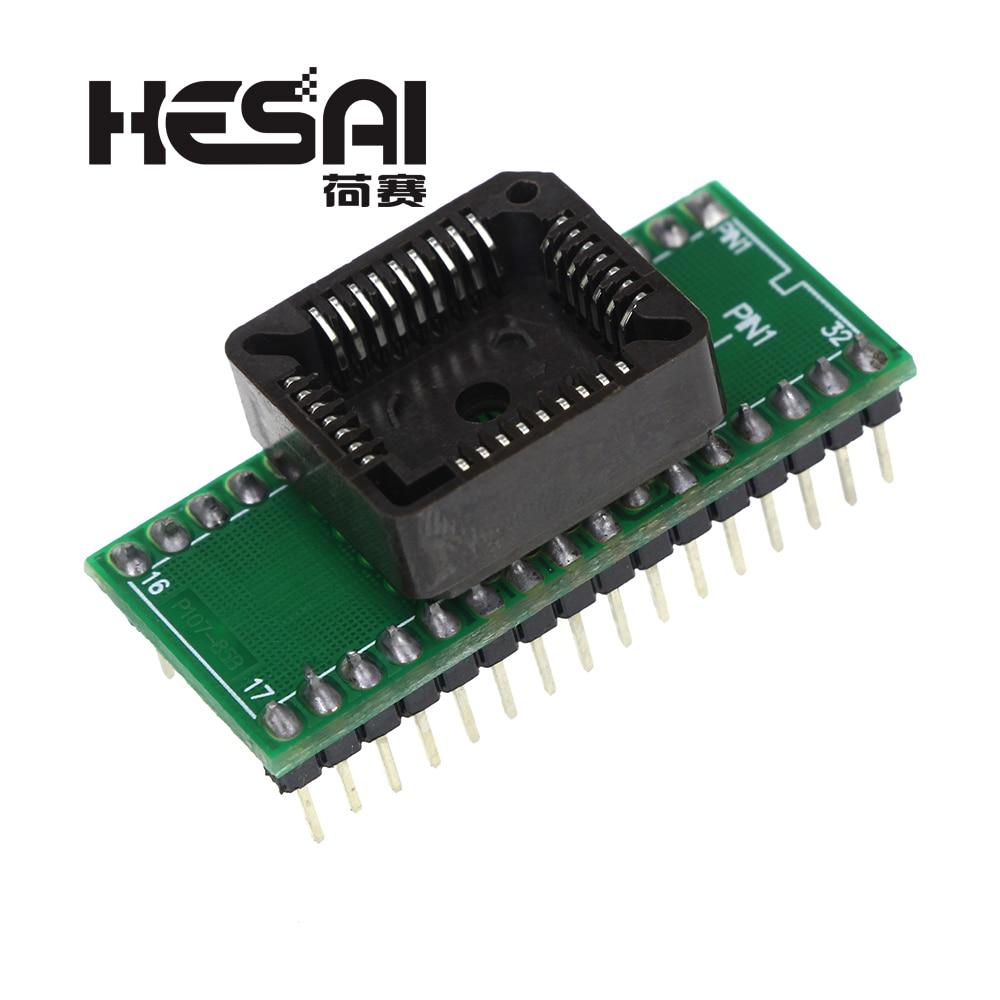 PLCC32 כדי DIP32 USB האוניברסלי מתכנת IC מתאם בוחן שקע עבור TL866CS TL866A EZP2010 G540 SP300
